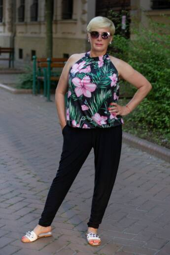 Fekete elasztikus nadrág