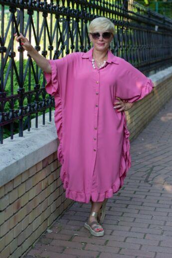 Eliza lazac színű laza stílusú ruha