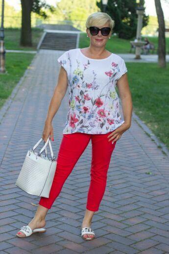 Elena piros nadrág