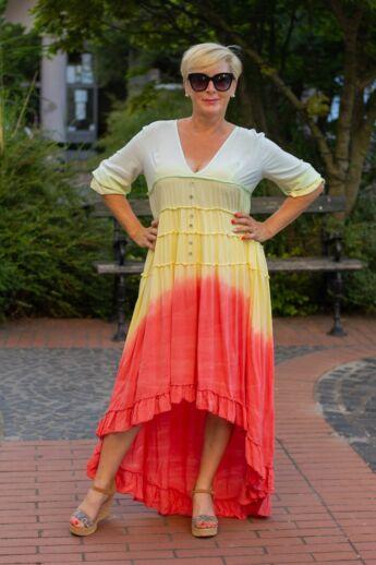 Arianna szivárvány színű maxi ruha