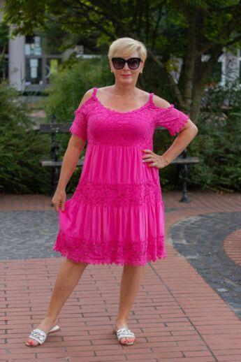 Bonita pink színű csipke ruha