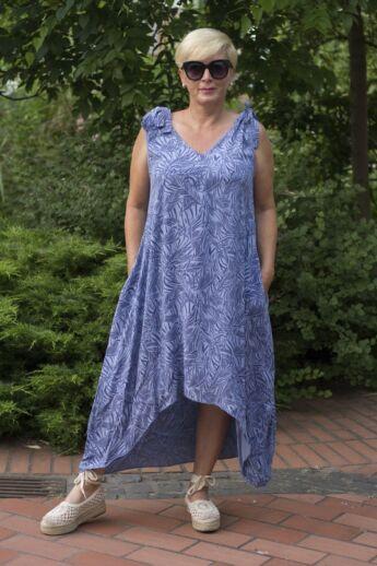 Tamara kék mintás ruha