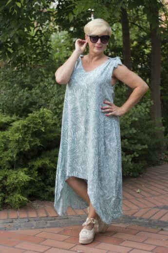Tamara zöld mintás ruha