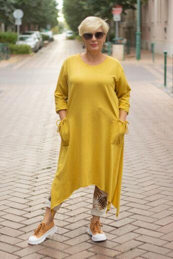 Harper mustár színű tunika