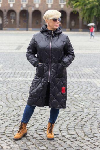 Diamond piros bélelt steppelt kabát