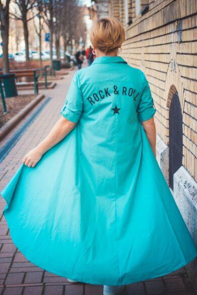 Florensza mentazöld hátán feliratos pamutvászon ing