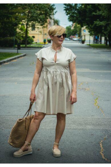 Drapp pamut-vászon ruha