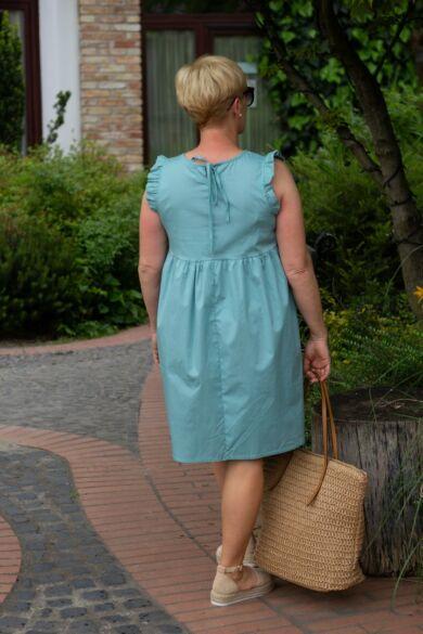 Leola menta zöld pamut vászon ruha