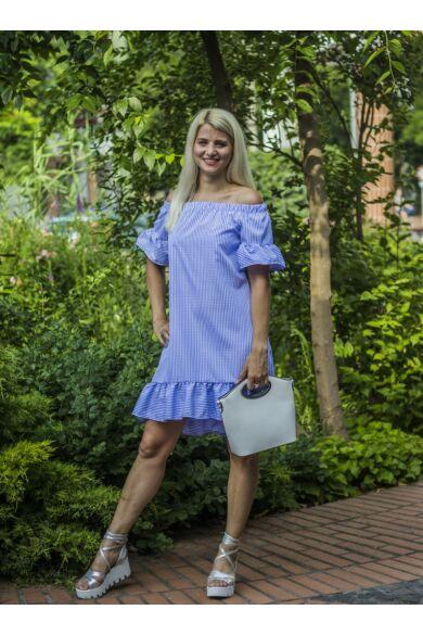 Dorothy  kék-fehér csíkos ruha fodorral