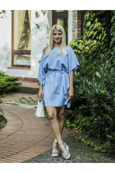 Olivía kékszínű lepel tunika-ruha