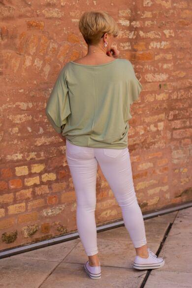 Caprice menta zöld színű pamut felső
