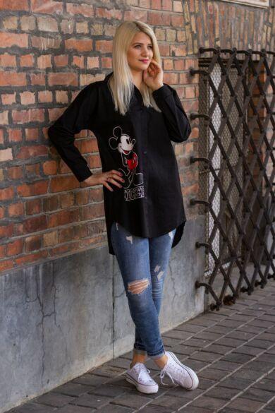 Mickey egér mintás fekete színű ing