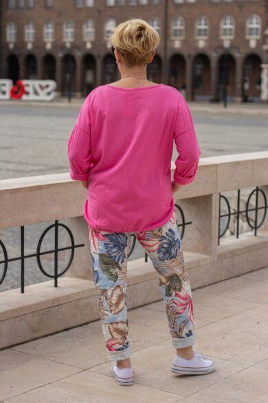Madison pink színű pamut felső