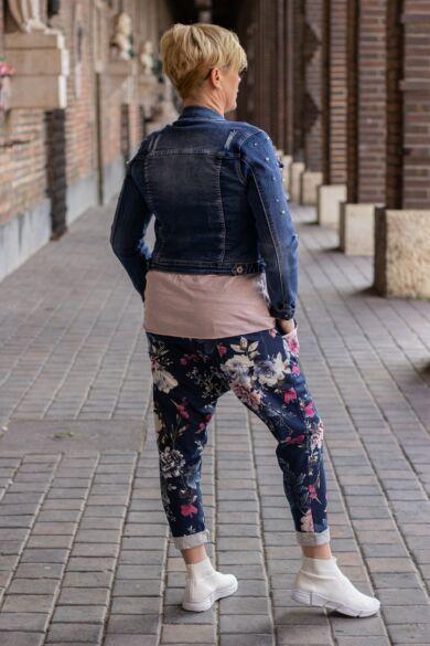 Virágos ülepes pamut nadrág