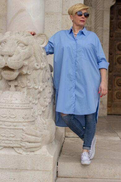Bona  világoskék színű ing-tunika