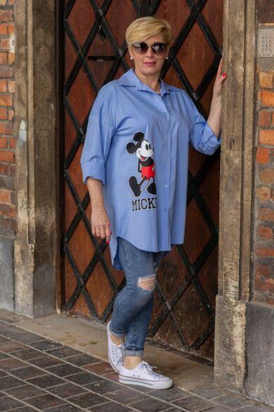 Mickey egér mintás kék színű ing