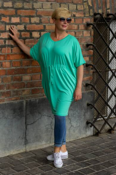 Menta zöld pamut tunika-ruha