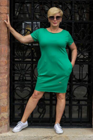 Gloria rövid ujjú, zöld pamut tunika