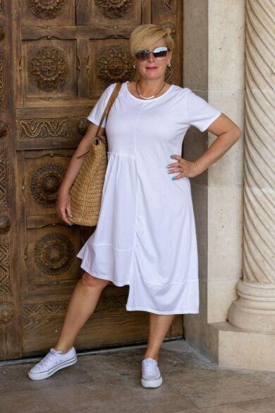 Addison fehér pamut ruha