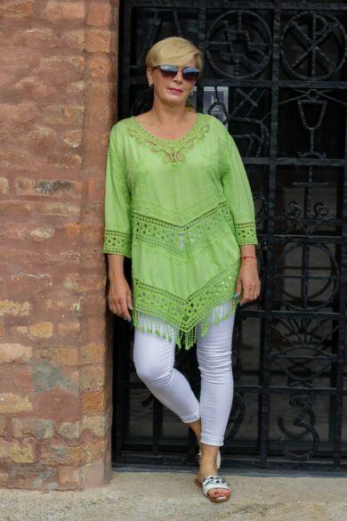 Sophia zöld csipke felső