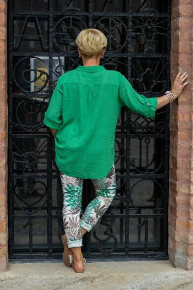 Zöld színű páfrányos nadrág