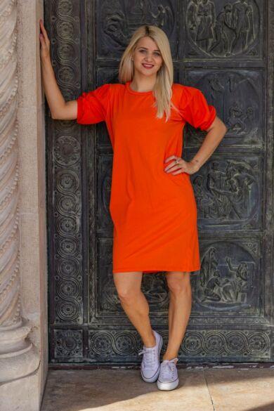 Mia narancssárga pamut ruha