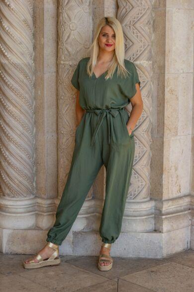Lara khaki zöld nadrág overál