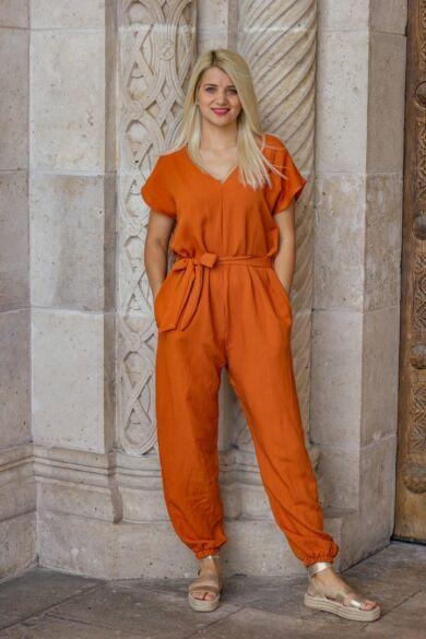 Lara narancs színű nadrág overál