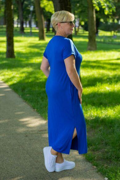 Stefani kék pamut tunika