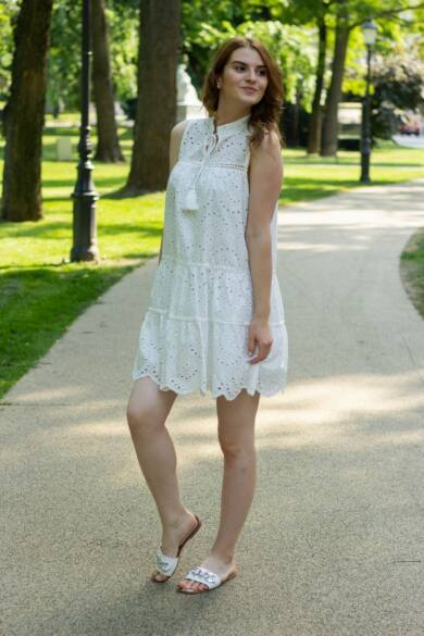 Loren fehér madeira csipke ruha