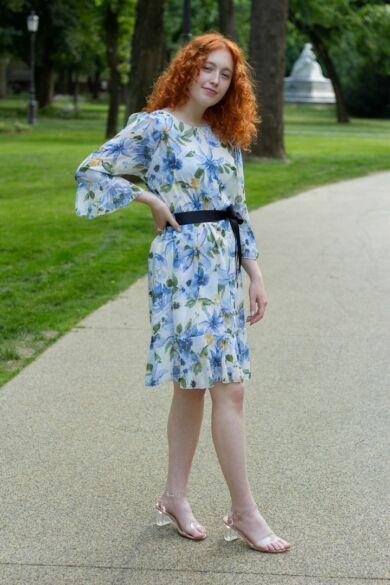 Virág mintás muszlin ruha