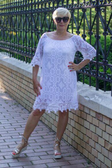 Nikol fehér csipke ruha