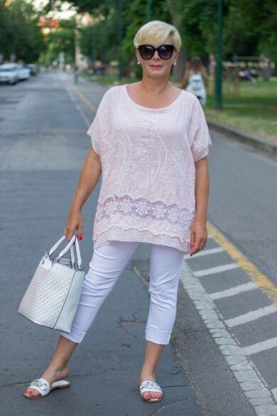 Elena fehér nadrág