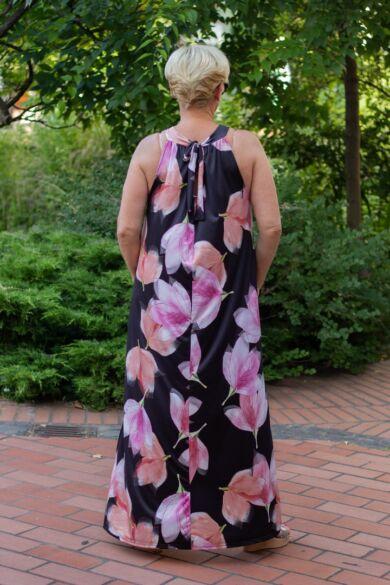 Lily egzotikus virág mintás maxi ruha