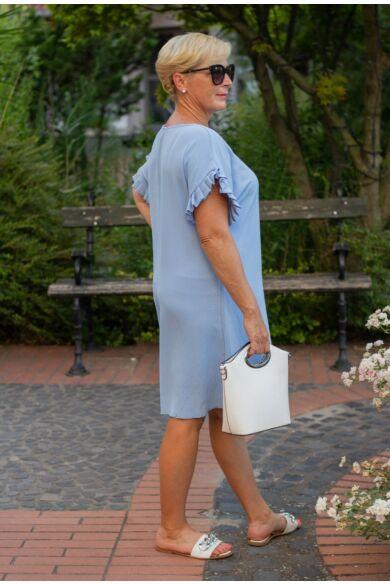 Lavinia világoskék színű tunika-ruha
