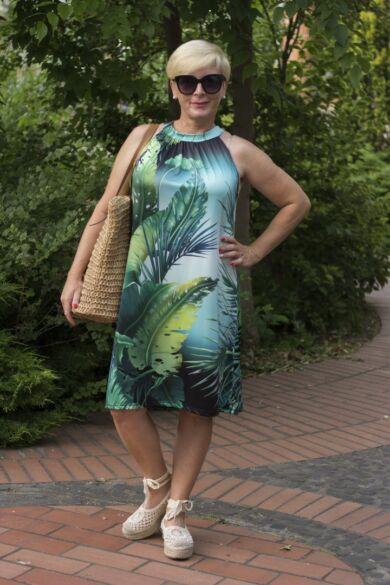 Kiara zöld leveles ruha
