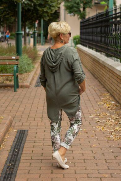 Cloé zöld színű kapucnis ing