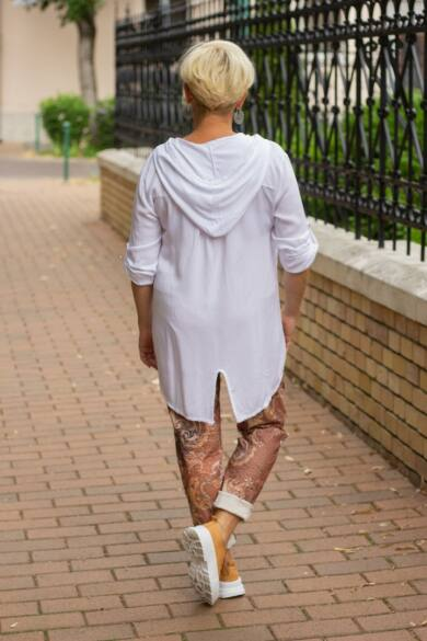 Cloé fehér színű kapucnis ing