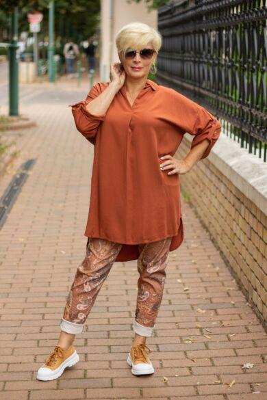 Madison rozsda színű ing-tunika