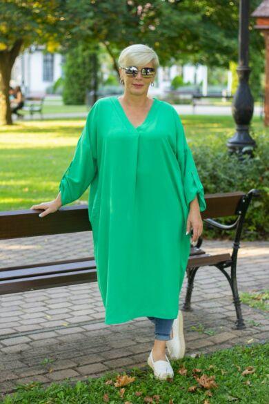 Everly zöld színű laza stílusú ruha