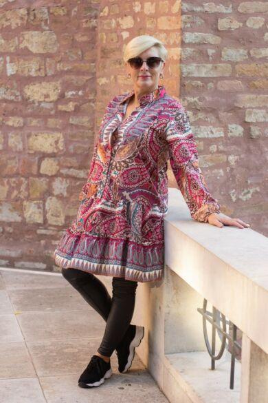Zadora színes mintás tunika-ruha