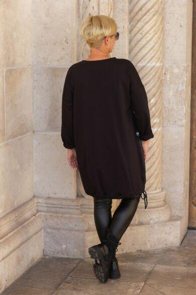 Lavinía fekete tunika-ruha