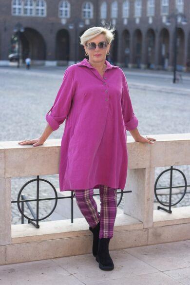Pink színű puha vékony bársony ing