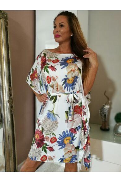 Színes virágos lepel ruha