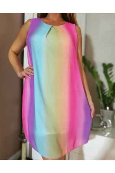 Szivárvány színű muszlin ruha