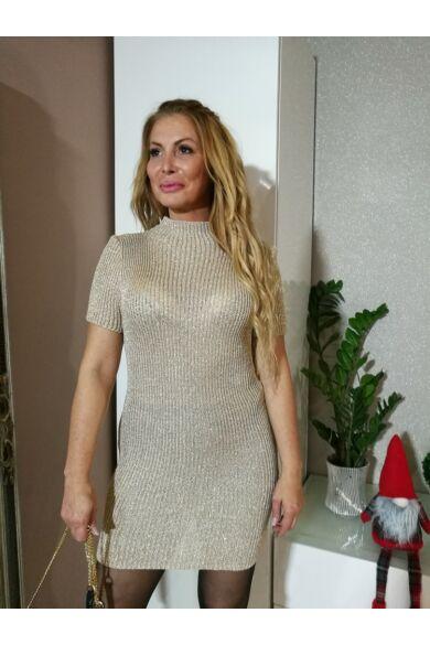 Sofia aranyszínű kötött ruha