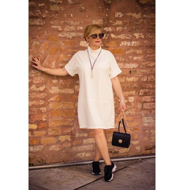 Sophia fehér laza stílusú tunika-ruha