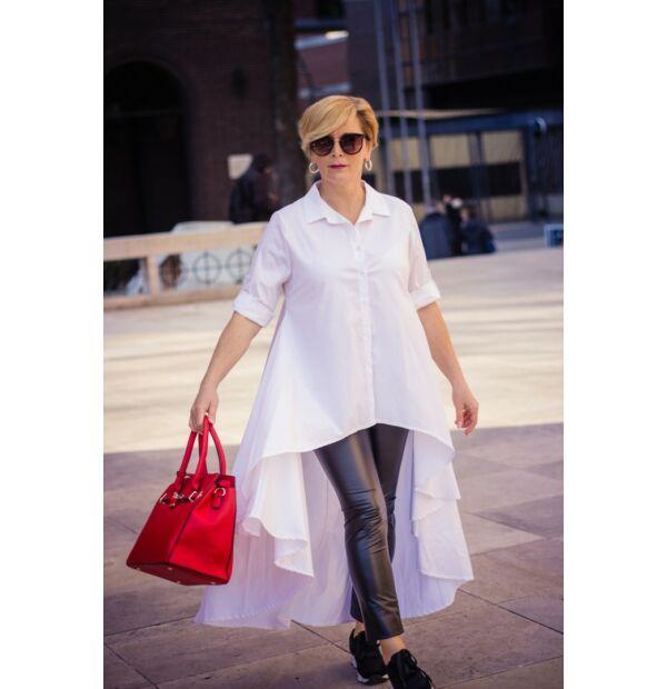 Florensza fehér hátán feliratos pamutvászon ing
