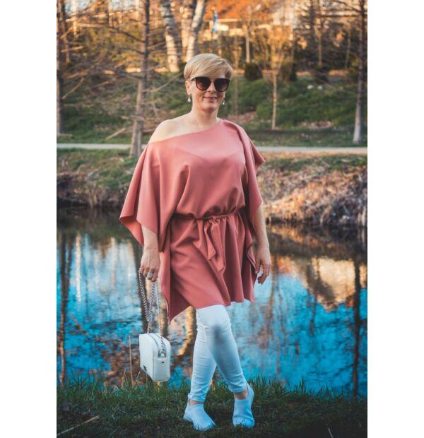 Olivía lazac színű lepel tunika-ruha