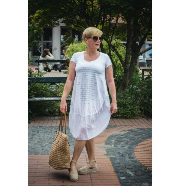 Fehér pamut buborék fazonú ruha